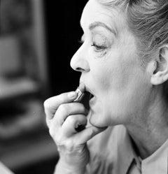Bette Davis Applying Lipstick Fine Art Print