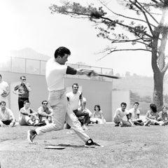 Burt Reynolds Playing Baseball Fine Art Print