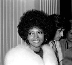 Candid Diana Ross in Fur Fine Art Print