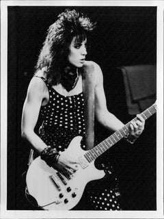 Joan Jett Playing Guitar on Stage Vintage Original Photograph