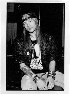 Young Axl Rose in Backwards Cap Vintage Original Photograph