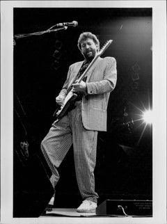 Eric Clapton Rocking Out on Stage Vintage Original Photograph