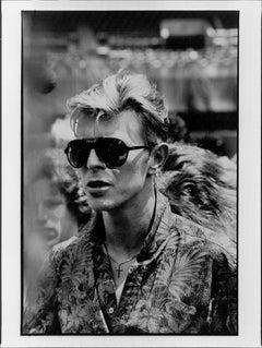 David Bowie Portrait in Sunglasses Vintage Original Photograph