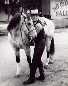 Dean Martin with Horse Fine Art Print