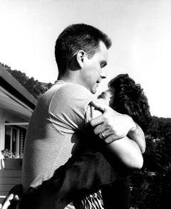 Natalie Wood and Robert Wagner Embracing Outdoors Fine Art Print