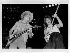 Van Halen on Stage Vintage Original Photograph