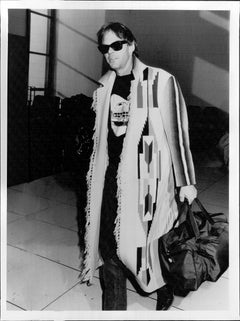 Neil Young Walking with Luggage Vintage Original Photograph