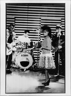 Bow Wow Wow on Striped Stage Vintage Original Photograph