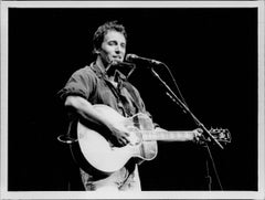 Bruce Springsteen with Guitar and Harmonica Vintage Original Photograph