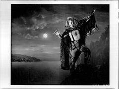 Ozzy Osbourne Moonlit Dramatic Portrait Vintage Original Photograph