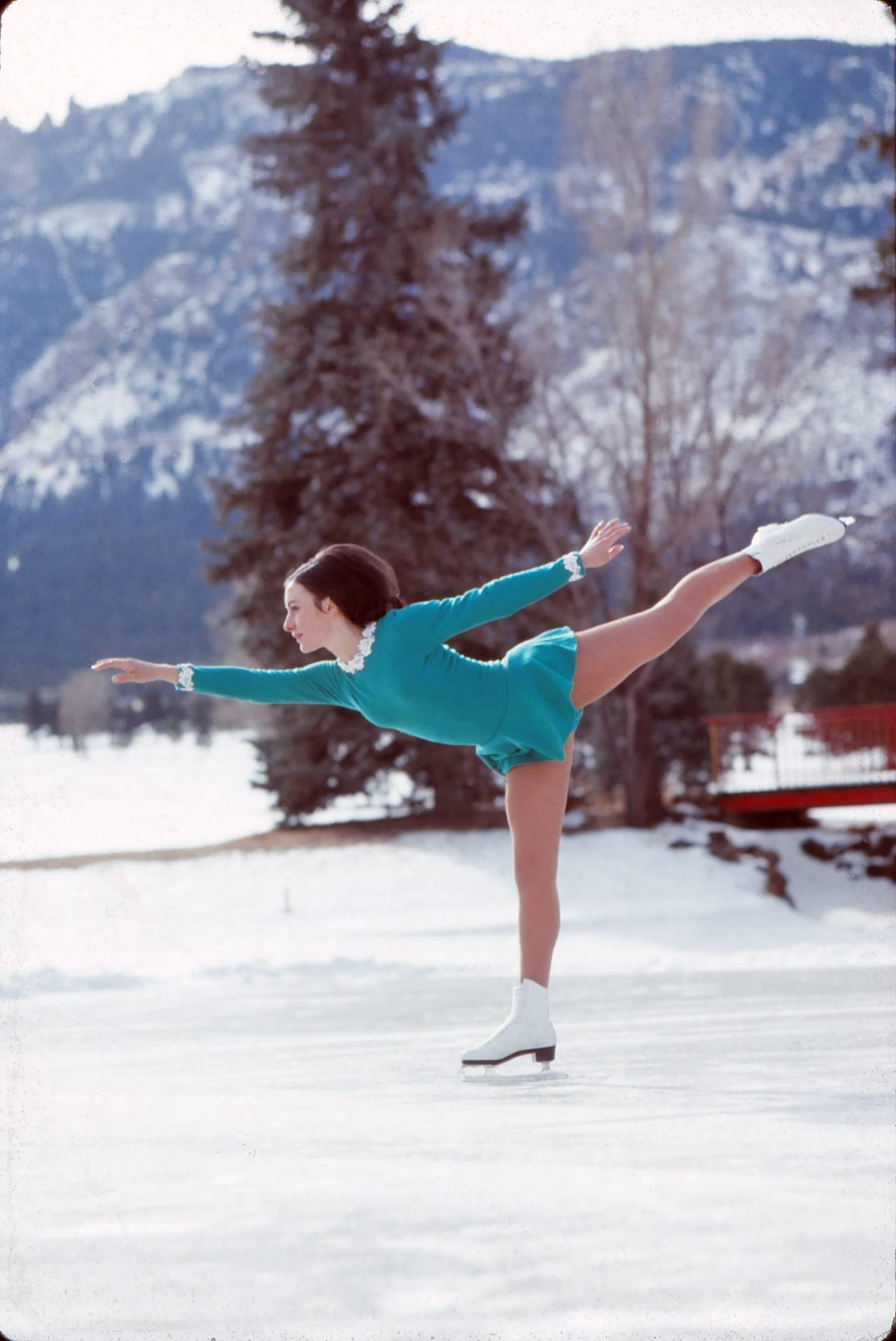 Unknown Color Photograph   Peggy Fleming, Olympic Gold Skater Fine Art Print