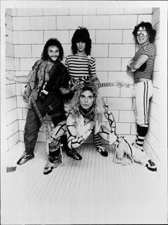 Van Halen on Tile Vintage Original Photograph