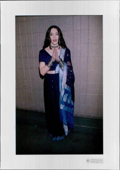 Madonna in Traditional Indian Dress Vintage Original Photograph