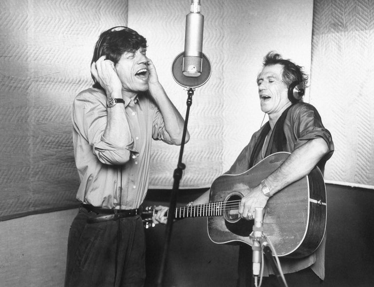 Unknown - Mick Jagger and Keith Richards in the Studio ...