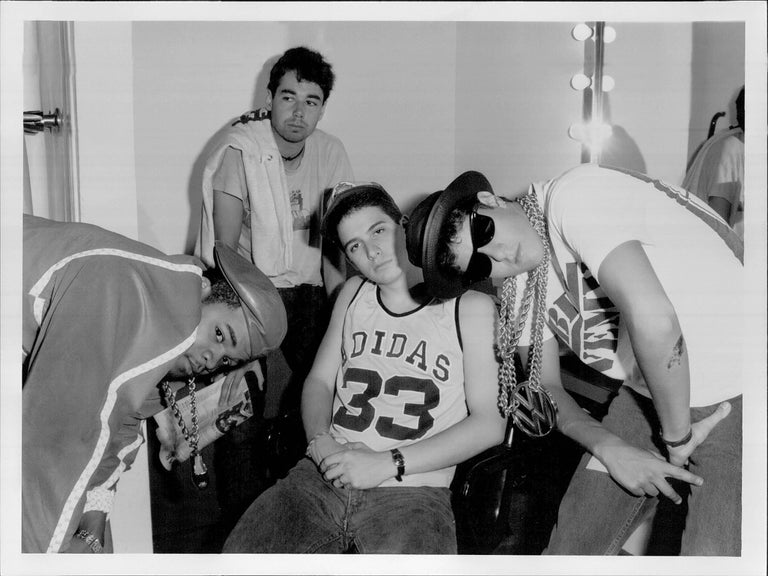 Ron wolfson black and white photograph the beastie boys backstage vintage original photograph