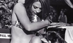 Natalie Wood in Bikini Holding Small Animal