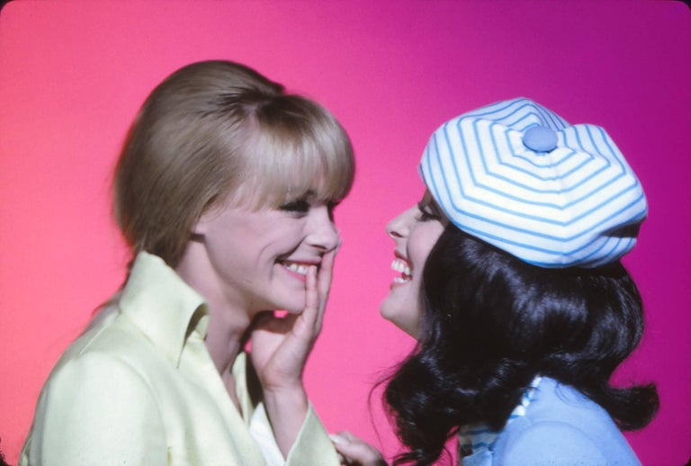 Sharon Tate and Elke Sommer in Bright Colorful Portrait Fine Art Print