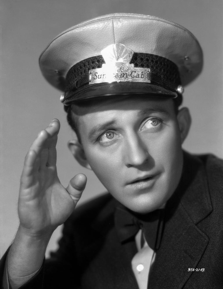 Otto Dyar Black and White Photograph - Bing Crosby in Peaked Cap Fine Art Print