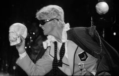David Bowie on Stage with Skull