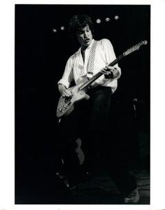 Ray Davies of The Kinks Playing Guitar Vintage Original Photograph