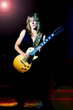 Randy Rhodes Rocking Out on Stage Fine Art Print
