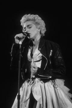 Madonna Singing into Microphone Fine Art Print