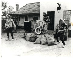 The Police Playing Outdoors Vintage Original Photograph