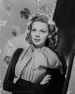 Judy Garland Glamour Studio Portrait With Leaves Fine Art Print