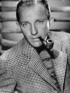 Bing Crosby Striking Portrait With Pipe Fine Art Print