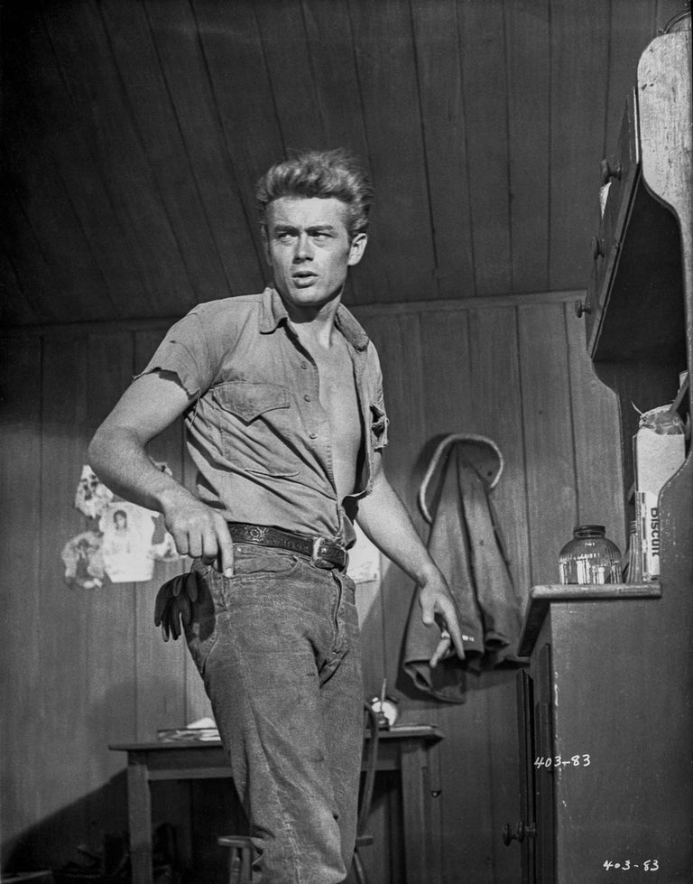 Floyd Mccarty Black And White Photograph James Dean Action Star Fine Art Print
