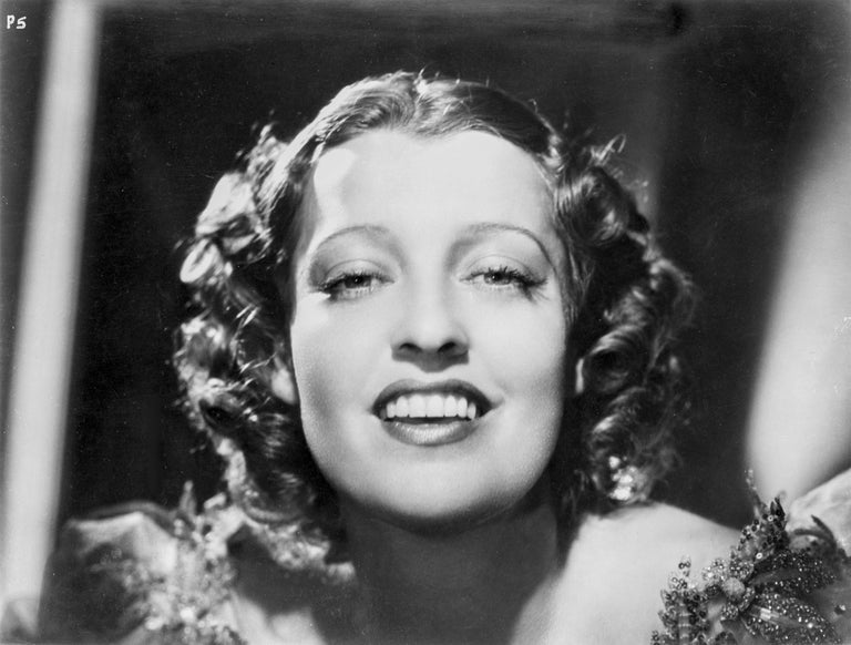 Clarence Sinclair Bull Black and White Photograph - Jeanette MacDonald Closeup Smile Fine Art Print