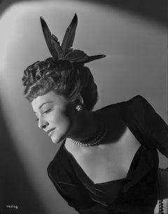 Olivia de Havilland in Feathers Fine Art Print