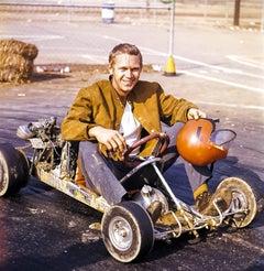 Steve McQueen in His Go-Kart Fine Art Print