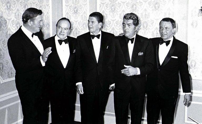 John Wayne, Bob Hope, Ronald Reagan, Dean Martin, and Frank Sinatra Fine Art
