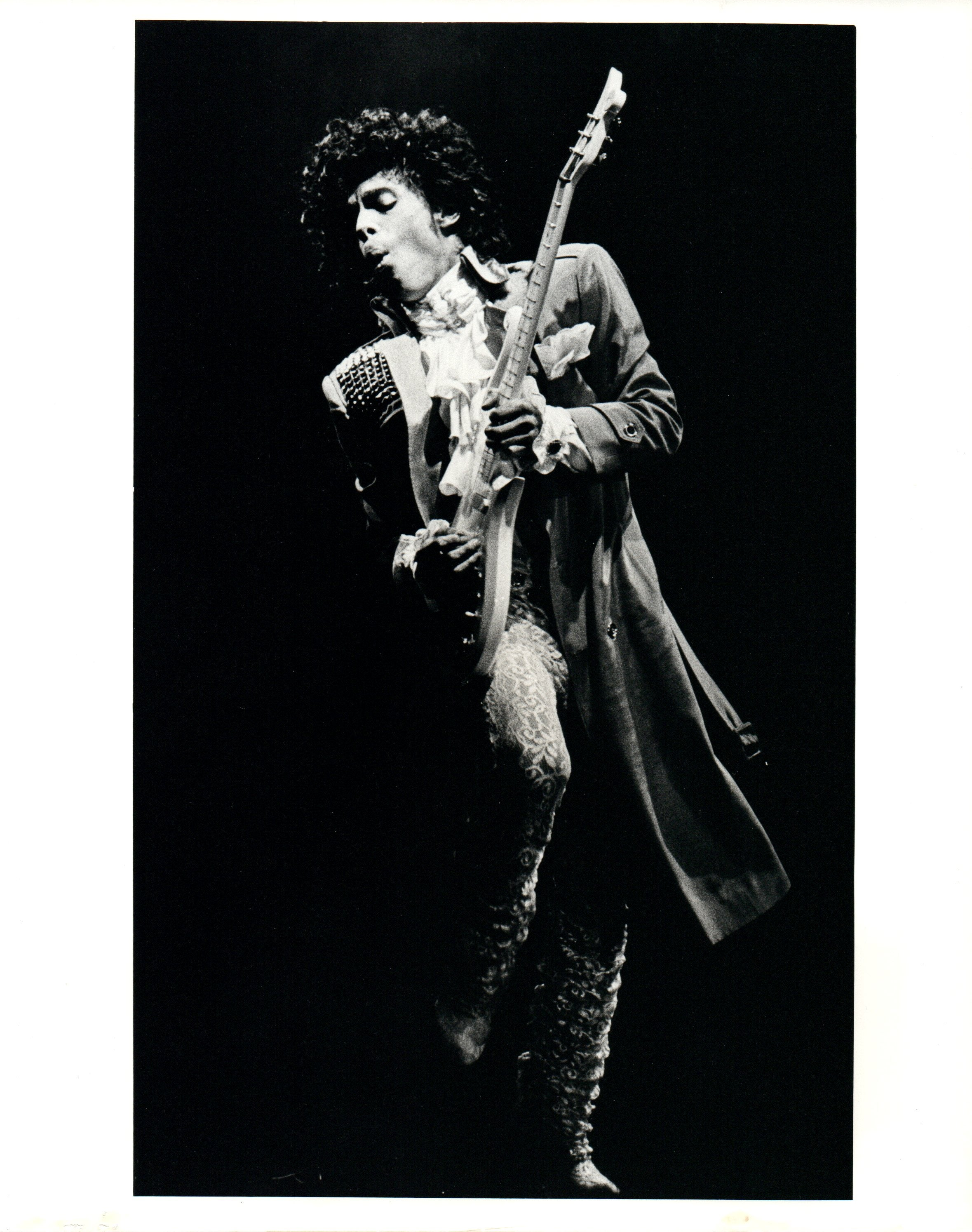 Ben de soto prince rocking out with guitar vintage original photograph