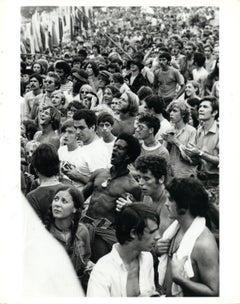 Audience at Woodstock Vintage Original Photograph