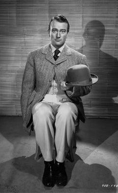 John Wayne Studio Portrait Seated on Chair Fine Art Print