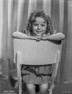 Shirley Temple in Chair Fine Art Print