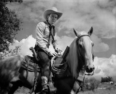 Roy Rogers Riding His Horse Fine Art Print