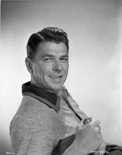 Ronald Reagan Smiling in Classical Portrait Fine Art Print