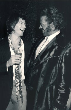 Chuck Berry and Keith Richards Laughing Fine Art Print