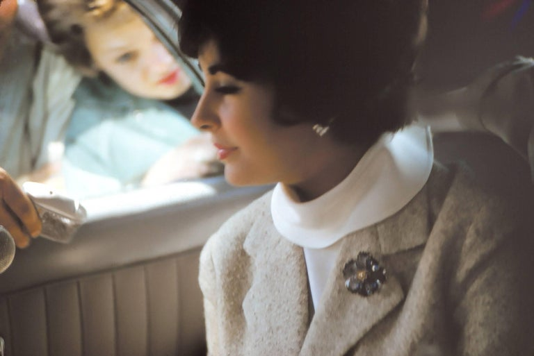 Elizabeth Taylor Candid in Car Fine Art Print