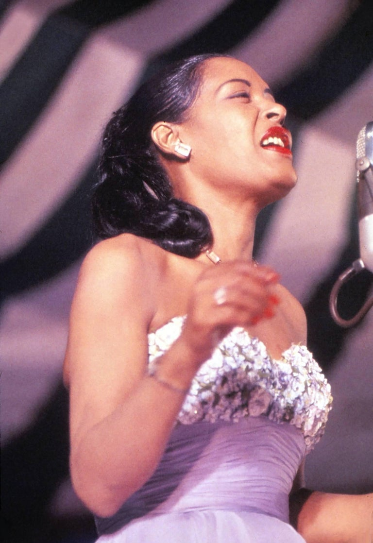 Unknown Color Photograph - Billie Holiday on Stage Fine Art Print