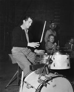 Dean Martin Playing Drums Fine Art Print