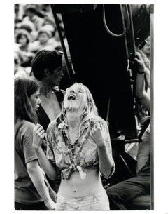 Hippie Girl at Woodstock Vintage Original Photograph