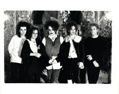 The Cure Group Portrait in Costume Vintage Original Photograph