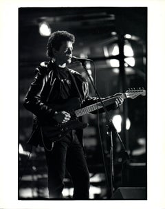 Lou Reed Singing on Stage Vintage Original Photograph