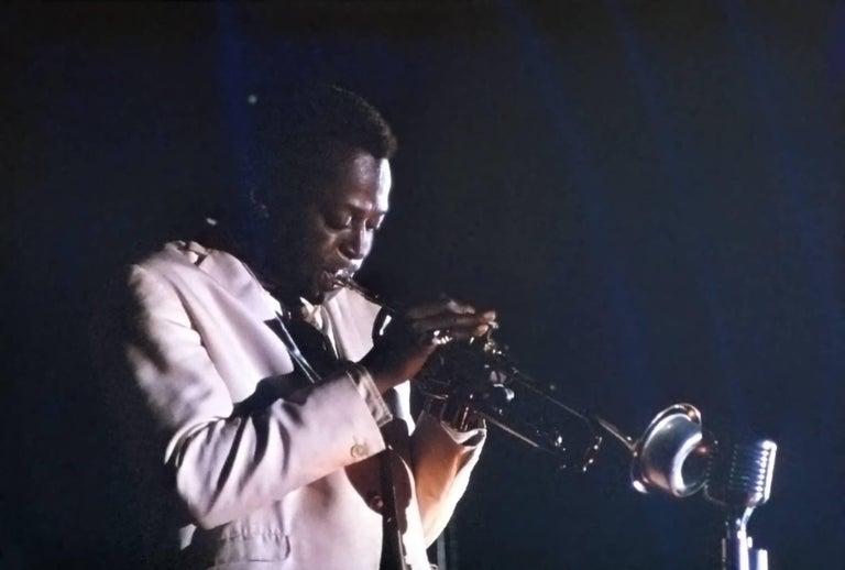 Miles Davis Playing on Stage Fine Art Print