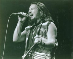 Vintage Original Photograph of U2's Bono Performing Live on Stage