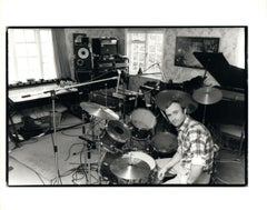 Phil Collins With Drumset Vintage Original Photograph